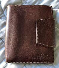 Vintage Robe Di Firenze Genuine Brown Italian Leather Bi Fold Wallet