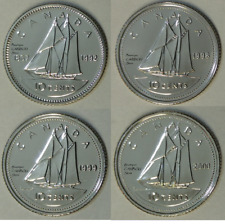 1992 - 1998 - 1999 - 2000 Canada 10 Cents