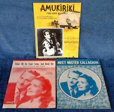 LES PAUL-MARY FORD - AMUKIRIKI, TAKE ME, MEET.- (3) SHEET MUSIC PIECES - ONE LOT
