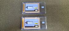 2 X Linksys Wireless G 2.4 GHz 802.11g WPC54G Notebook WiFI Adapter CardBus Card