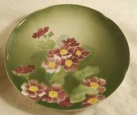 "K & G Luneville France Primevere 8.5"" Ceramic Plate Primrose Floral Early 1900s"