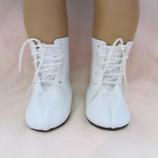 """American Girl 18"""" White Lace Up Boots  Very Cute  DD103WH"""