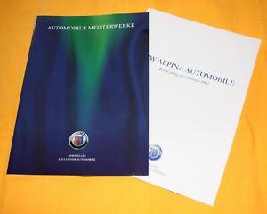 Alpina BMW 2002 Prospekt Brochure Depliant Prospetto Catalog B3 B10 D10 Roadster