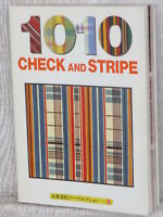 CHECK AND STRIPE 1010 Art Photo Book Japan Textile Fashion Design 1997