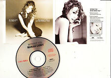 "Mariah Carey RARE 2 TRACK AUSTRALIAN CD ""WITHOUT YOU/NEVER FORGET YOU"" OOP"