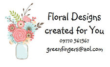42 Large Personalised Labels Vase of Flowers  / Address / Hobbies design 292