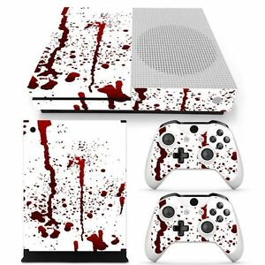 For Xbox One S Console & 2 Controllers Splatter Vinyl Skin Decal