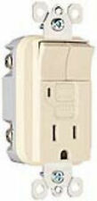 GFCI GFI + DOUBLE SWITCH COMBO, LED LIGHT HIGH END ITEM, IVORY, NEW IN BOX