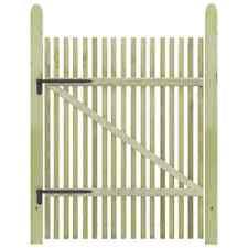 Vidaxl legno Pino FSC impregnato Cancello Steccato 100x150cm Ingresso Recinto