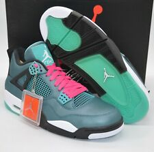 New DS Nike Air Jordan 4 (IV) Retro 30th Teal/White/Black/Neon Pink Rare Retro