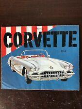 Vintage 1958 Chevrolet Corvette Two-seater Dealer Foldout Sales Brochure