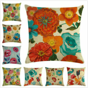 Outdoor Pillow Case Flowers Floral Watercolor Summer Decorative Cushion Cover