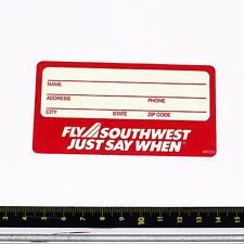 Southwest Airlines Bag Tag Stickers - 1990s - Good Condition