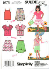 New Sewing Pattern Simplicity 1675 Size 3-6 Suede Says Girl's Skirts, Knit Tops