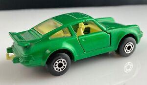 Matchbox 75 Superfast #3 vert émeraude PORSCHE TURBO Anthracite//Noir Base Boxed