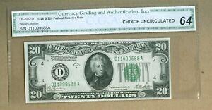 1928 B U.S. $20 FRN NOTE Cleveland Woods-Mellon Choice Uncirculated