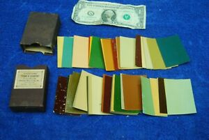 Antique Harrison's Town & Country Paint Samples with original box Early 1900's