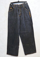 Roca Wear Girls Black Fade Denim Jeans Size 14 100% Cotton Big Legs
