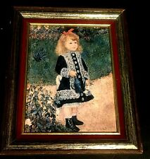 """Auguste Renoir    A Girl With A Watering Can  8"""" x 10"""" framed art print no glass"""