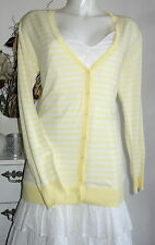 ESPRIT süße Streifen Jacke L 40 Baumwolle cotton stripe gelb yellow creme