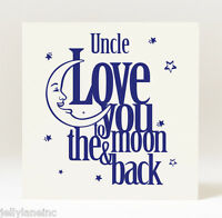 Handmade Father's Day/Birthday Love You to the Moon and Back  Daddy Grandad Card