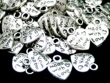 30 Pcs 13 mm plata tibetana hecha con amor charms de plata colgante de color Z242