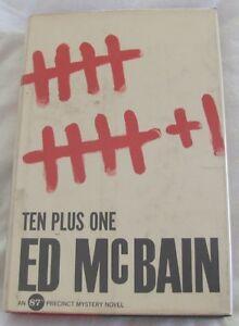 Ed McBain TEN PLUS ONE 1st Edition 1963: An 87th Precinct Mystery Novel