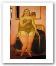 FIGURATIVE ART PRINT La Cama II Fernando Botero