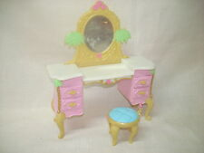 Barbie Furniture Mattel Barbie Island Princess Vanity Stool Mirror