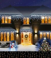 Christmas LED Icicle Snowing Effects 200 - 1200 Xmas Chaser Lights Outdoor Ferry
