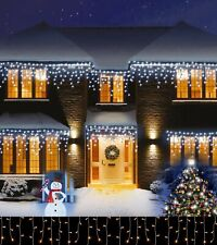 Christmas LED Icicle Snowing Effects 480 720 960 1200 Xmas Chaser Lights Outdoor