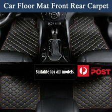 4Pcs PU Leather Car Floor Mat Front Rear Carpet Protect Pad Waterproof AU Stock