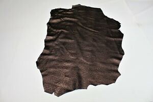 Burgundy Ostrich Skin Cowhide Apparel Upholstery Purse Craft Avg 8 SqFt Textured