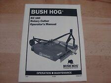 Bush Hog Rotary Cutter Operators Manual RZ 160 Razorback