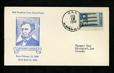 US Naval Ship Cover USS Albany CA-123 Cold War 2/12/1949 Lincoln Birthday