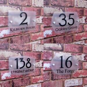 Customized Outdoor Frosted Plaque Acrylic Door Number Address Home Sign #003