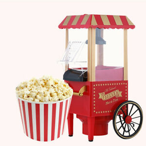 POPCORN CART MACHINE MAKER Vintage Red Stand Popper Home Movie Theater NEW