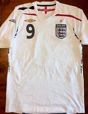Umbro ENGLAND 2007-09 Home S #9 ROONEY Soccer Jersey Football Shirt