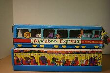 Alphabet Express 26 A to Z board books, train box tiny picture books educational