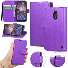 New Leather Magnet Flip Wallet Pouch Book Stand Case Cover for Nokia 2 6 7Plus
