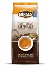 Minges Café Creme Kaffeehaus. 8 x 1.000g ganze Bohne. Deutsche Ware inkl. Spende