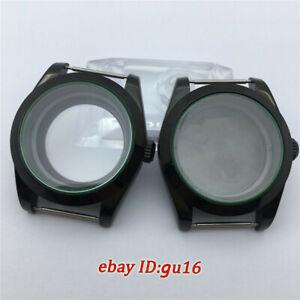 40mm Sapphire Glass Watch PVD case fit NH35 NH36 MIYOTA 821A 8205 8215 movement