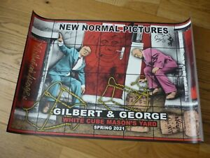 GILBERT & GEORGE -NEW NORMAL PICTURES - HAND SIGNED POSTERS - WHITE CUBE 2021