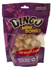 New listing Dingo Mini Bones with Real Chicken Snack for Small Dogs 22 Pack