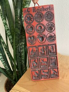 Vintage Antique C. Reichert 1888 German Springerle Wax Cookie Mold Press