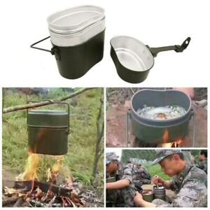 3 in 1 Picnic Military Lunch Box Army Lunch Box Camping Cookware Cook Set Hiking
