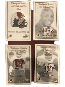 4 Washington Redskins-1998 COLLECTOR'S PIN SERIES-Stubblefield, Patton, Bowie