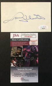 JOHNNY UNITAS SIGNED 3 X 5 INDEX CARD BALTIMORE COLTS JSA CERTIFIED AUTOGRAPH!