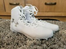 New Under Armour UA Women's Highlight Molded White Lacrosse Cleats Size 10.5