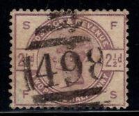 Großbritannien 1883 Mi. 75 Gestempelt 100% 2 1/2p, Königin Victoria, Prominente